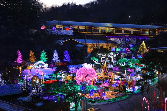 포천 허브아일랜드 '불빛동화축제'. [사진 허브아일랜드]