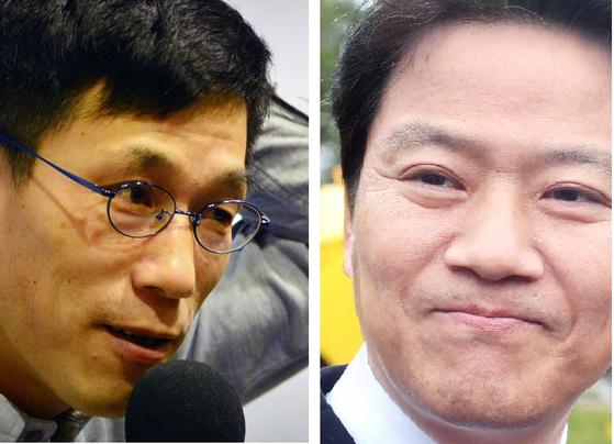 진중권 전 동양대 교수(왼쪽)와 임종석 전 대통령 비서실장. [중앙포토, 연합뉴스]