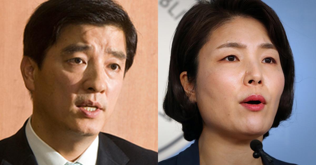 이해식 민주당 대변인(왼쪽)과 전희경 자유한국당 대변인. [중앙포토, 뉴스1]