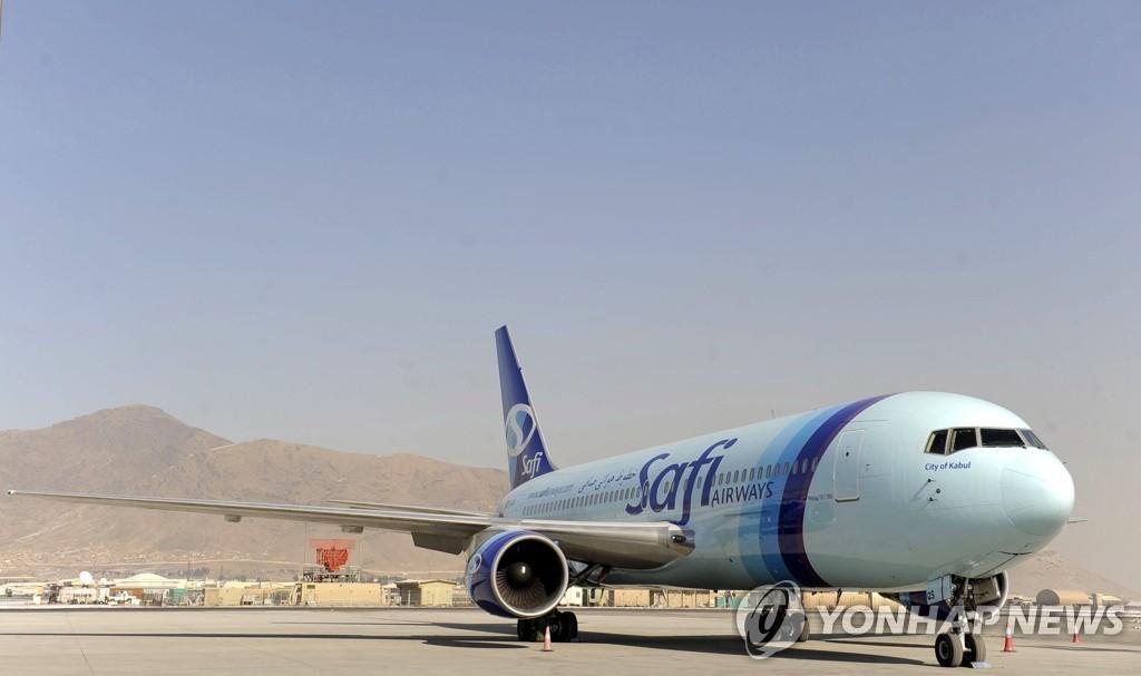 2013년 1월 5일 아프가니스탄 카불 국제공항에 주기된 아리아나 아프간 항공 소속 항공기. [EPA=연합뉴스]