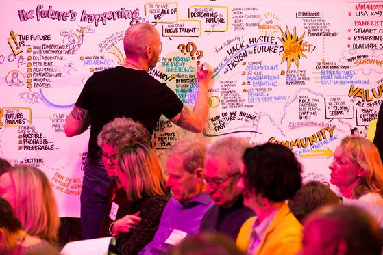지난해 3월 스탠퍼드 디스쿨에서 열린 'The Future's Happening' 세미나 [사진 디스쿨 홈페이지]