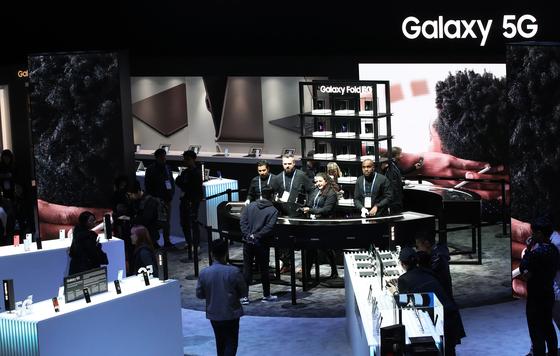 올 1월 CES 2020 당시 삼성전자의 모바일 부스. [뉴스1]