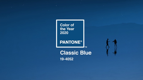 팬톤 색채 연구소가 선정한 올해의 색, 클래식 블루. 해질 무렵의 밤하늘을 닮은 색이다. [사진 팬톤 홈페이지]