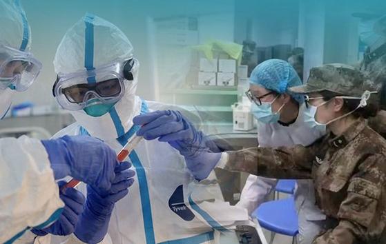 중국이 신종 코로나바이러스 감염증과 사투를 벌이고 있지만 사망자가 계속 급증하는 등 상황은 자꾸 나빠지고 있다. [중국 인민망 캡처]