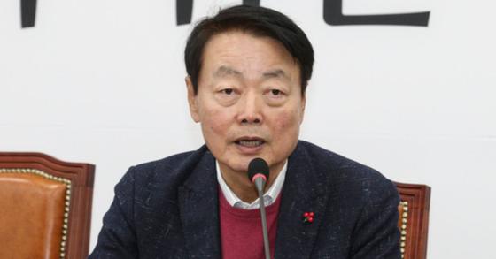 발언 중인 한선교 자유한국당 의원 [중앙포토]