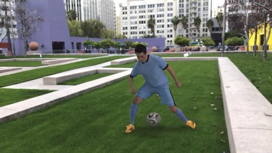 마이크로소프트가 '혼합현실 캡처 스튜디오' 기술로 실제 구현한 3차원 콘텐트.