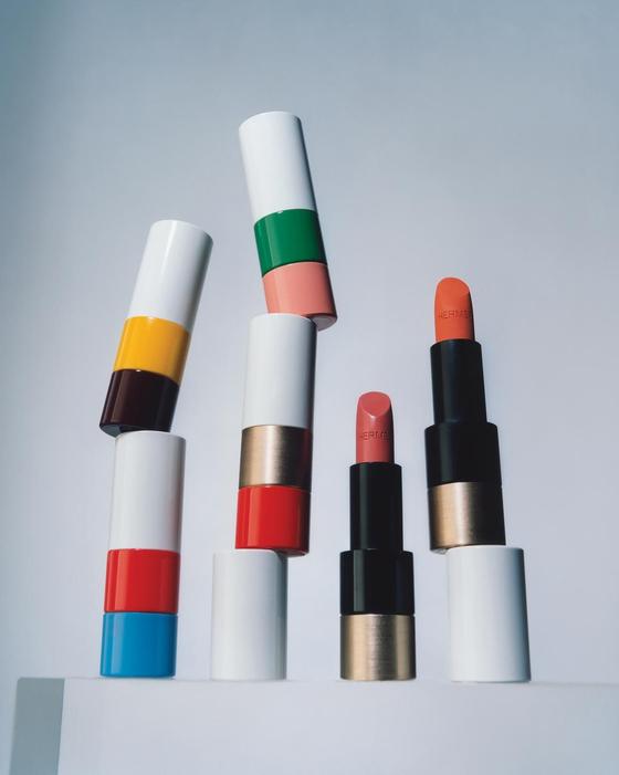 프랑스 명품 브랜드 에르메스가 오는 3월 출시하는 립스틱. 향수 이외에는 처음 내놓는 화장품이다. [사진 WSJ·에르메스]