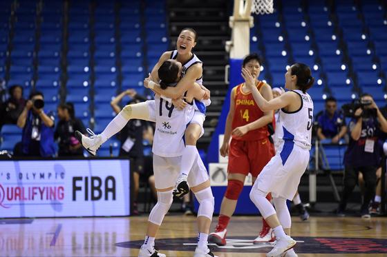 12년 만에 올림픽 본선 진출에 도전하는 여자농구대표팀. 사진=대한민국농구협회