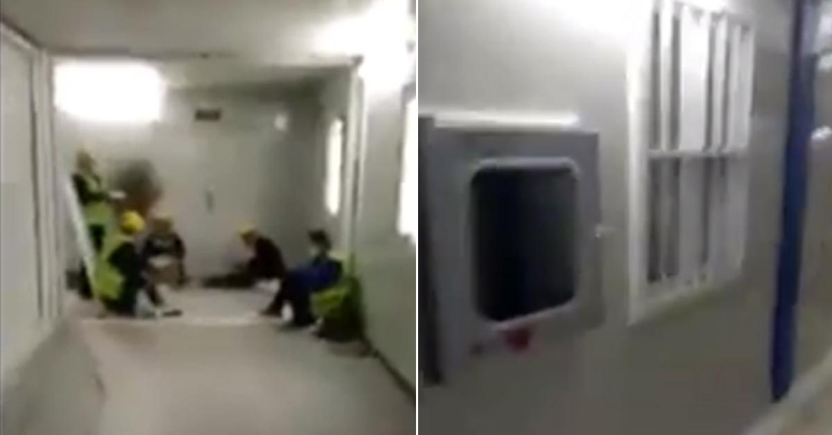 트위터를 통해 공개된 중국 훠선산 병원 내부 영상. ['히말라야글로벌' 트위터]