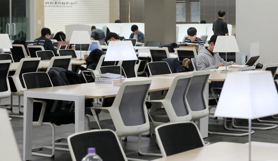 4일 서울 한 대학 도서관 [뉴스1]