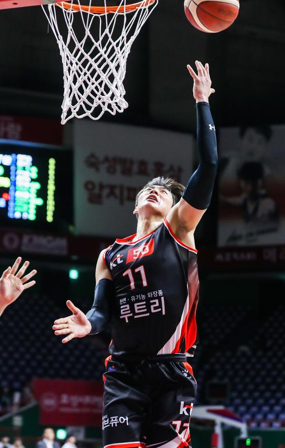 오리온전 맹활약하며 팀의 승리를 이끈 KT 양홍석. KBL 제공