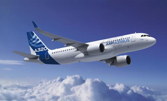 에어버스사의 A320기. [중앙포토]