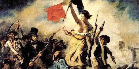 프랑스혁명을 다룬 들라크루아의 작품 '민중을 이끄는 자유의 여신'. 루소와 볼테르, 몽테스키외 등 계몽사상가들의 사상이 '자유와 평등, 박애'라는 프랑스 혁명 정신의 기초를 마련했다. [중앙포토]