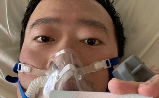 신종 코로나바이러스 존재를 세상에 알렸던 중국인 의사 리원량이 7일(현지시간) 오전 2시 54분 감염증 치료 중 숨졌다. [사진 웨이보]