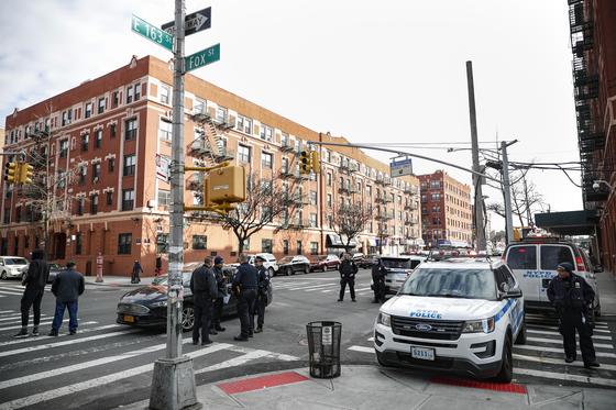 지난 주말 총격이 발생한 미국 뉴욕 현장. [AP=연합뉴스]