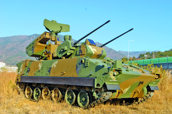 한국이 인도 수출을 추진중인 대공무기 비호복합. [사진 한화디펜스]