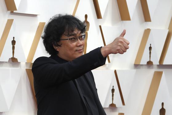 9일(현지시간) 미국 아카데미 시상식에 참석한 영화 '기생충'의 봉준호 감독. [로이터=연합뉴스]