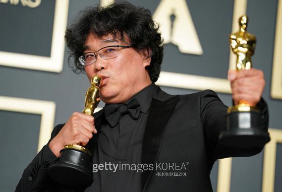 아카데미 시상식의 봉준호 감독