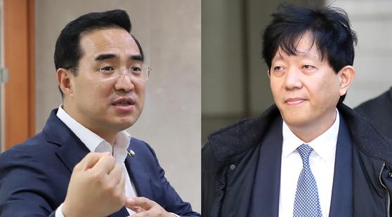 박홍근 더불어민주당 의원(좌)과 이재웅 쏘카 대표(우). [박홍근의원실, 연합뉴스]