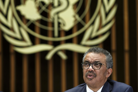 Tedros Adhanom Ghebreyesus, Director General of the World Health Organization (WHO), gives a statement to the media about the response to the COVID-19 virus outbreak, at the World Health Organization (WHO) headquarters in Geneva, Switzerland, Wednesday, Feb. 12, 2020. The disease caused by the novel coronavirus (SARS-CoV-2) has been officially named COVID-19 by the World Health Organization (WHO). (Salvatore Di Nolfi/Keystone via AP)〈저작권자(c) 연합뉴스, 무단 전재-재배포 금지〉