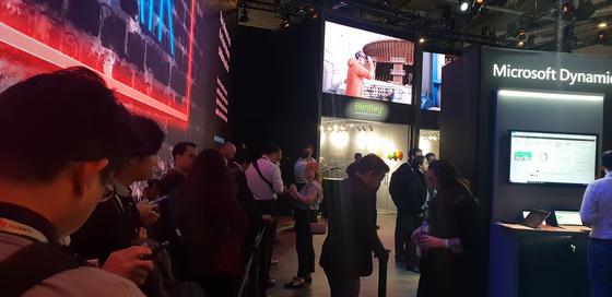 지난해 스페인 바르셀로나에서 열린 MWC 2019 행사장 모습