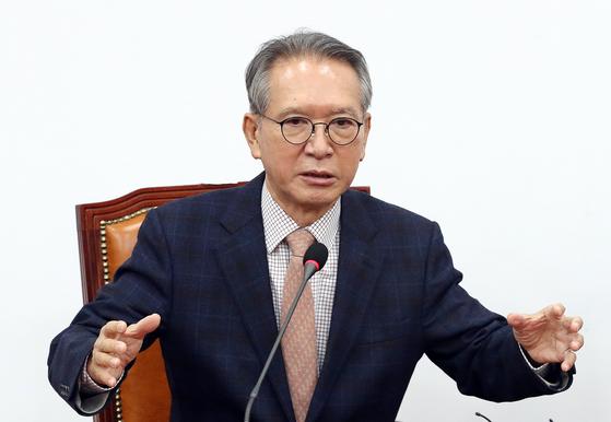 김형오 자유한국당 공천관리위원회 위원장. [뉴스1]