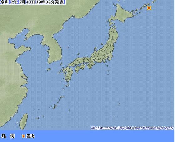 """일본 홋카이도 동쪽 해상 규모 7.0 지진…""""쓰나미 우려는 없어"""""""