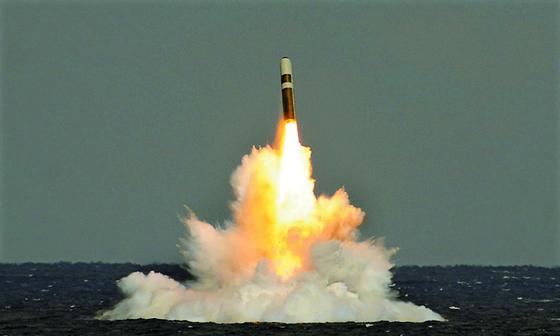 트라이던트 SLBM 미사일. [사진 미 해군]