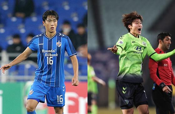 울산과 전북의 새로운 젊은 피 원두재와 조규성. 사진=울산·한국프로축구연맹