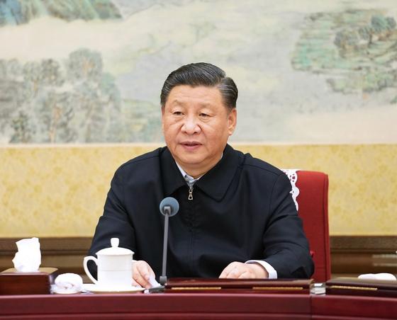 시진핑 중국 국가주석은 지난 14일 전면개혁심화회의에서 '생물 안전'의 중요성을 역설했다. [중국 신화망 캡처]
