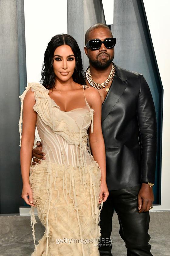Kim Kardashian and Kanye West (Photo by Frazer Harrison/Getty Images)