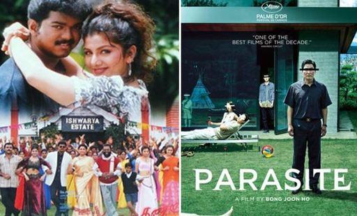 인도 영화 '민사라 칸나'와 '기생충'의 포스터. [중앙포토]