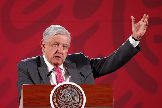 로페즈 오브라도르 멕시코 대통령. [EPA=연합뉴스]