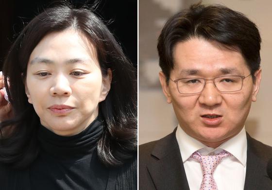 조현아 전 대한항공 총괄부사장(左)과 조원태 한진그룹 회장(右). [연합뉴스]