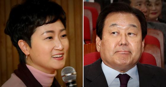 미래통합당 김무성 의원(오른쪽)과 이언주 의원(왼쪽). [연합뉴스, 뉴스1]