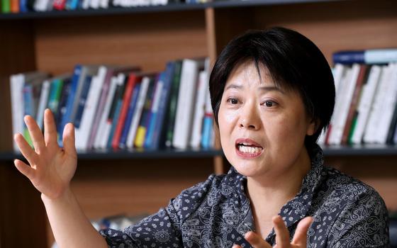 인터뷰 중인 윤희숙 KDI 국제정책대학원 교수. [중앙포토]