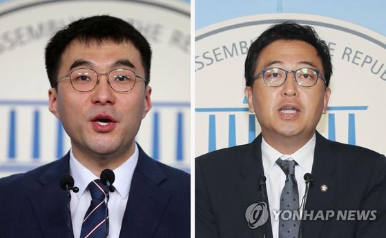 김남국 변호사(왼쪽)와 금태섭 더불어민주당 의원. [연합뉴스]