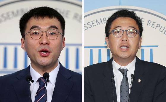 김남국 변호사(왼쪽)와 더불어민주당 금태섭 의원.  [연합뉴스]