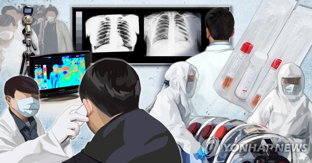 신종코로나 의심환자 검사. [연합뉴스]