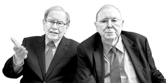 워런 버핏 버크셔 해서웨이 회장(左), 찰리 멍거(右)
