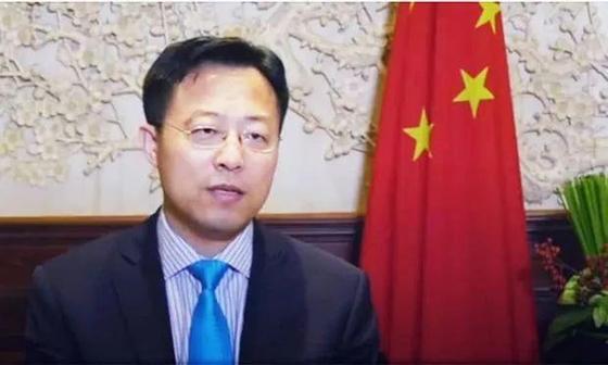자오리젠 중국 외교부 대변인 [중국청년망 캡처]