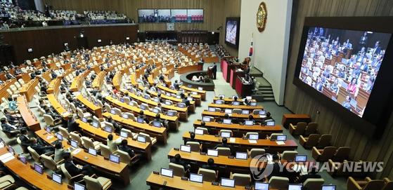국회 대정부질문 .[연합뉴스]
