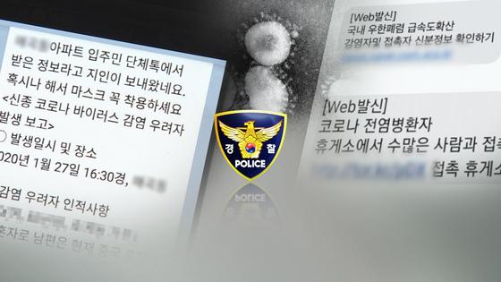 경찰, 코로나119 가짜뉴스 수사. 연합뉴스
