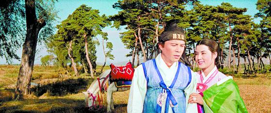 신상옥 감독의 '성춘향'에 출연한 김진규·최은희. [사진 한국영상자료원]