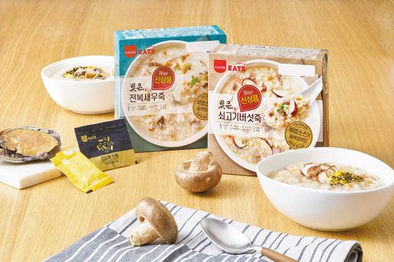'삼립잇츠'가 국내산 신동진미(米)와 다양한 육수로 감칠맛을 낸 죽 3종을 출시했다. [사진 SPC삼립]
