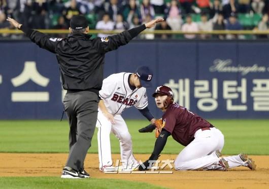 장타 능력도 갖췄지만 수준급 주루로 지난해 도루 2위에 이름을 올린 김하성(오른쪽). IS포토