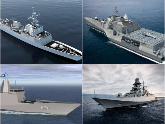 미 해군이 20척을 도입하려는 유도미사일 호위함에서 경쟁하는 후보들 [사진=csmarinellc.com]