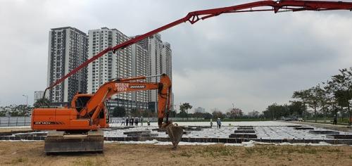 삼성전자 베트남 법인은 지난달 29일 베트남 하노이 연구개발(R&D) 센터 건설 공사를 시작했다고 2일 밝혔다. 코로나19 확산 우려로 예정됐던 기공식은 취소했다. [사진 삼성전자 베트남 법인]