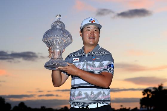 PGA 투어 50번째 도전 끝에 혼다 클래식에서 첫 우승을 거둔 임성재 선수. [AFP=연합뉴스]