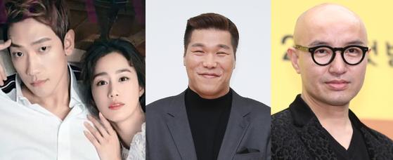 (왼쪽부터)비·김태희 부부, 서장훈, 홍석천. 하퍼스바자·뉴시스·일간스포츠